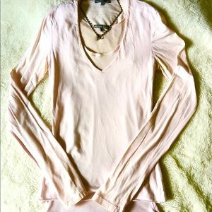 James Perse Long-sleeved Light Pink Top